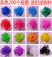 Wholesale 1000packs color mix pack RAINBOW LOOM RUBBER BAND REFILL S CLIPS Christmas gift rubber bands silicone bands