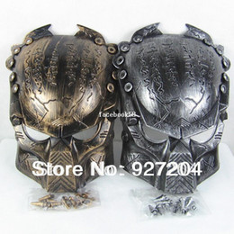 Wholesale 2014 New Colors Iron Man Style AVP Costume Masks Supper Replica Alien Vs Predator Mask Warrior Movie Prop AVPR Soldier