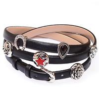 Women's bead wrap bracelet diy - Newest European Style Charm Bracelet for Women With Slide charm Beads DIY leather wrap bracelet