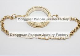Panpan 30mm 316L Stainless steel gold magnetic locket bracelet