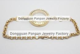 Panpan 25mm 316L Stainless steel gold magnetic locket bracelet