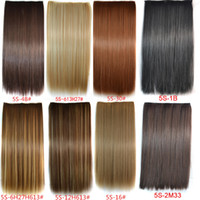 Cheap Synthetic hair clips in hair extension Best 30 Colors In Stocks Straight hair extensions