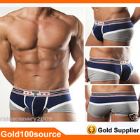 Cheap Lastest Brand Hot Mens Boxers Sexy Underwear Penis Pouch Underwear Panties Bottoms Boxer Briefs Size S M L XL