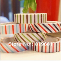 Wholesale New stripe series quality fabric tape soft color series Office Adhesive Tape colors