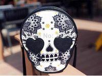 Cheap FREE SHIPPING 2014 new fashion women's handbag messenger totes designer bag small skull bags pu leather cross-body high quality