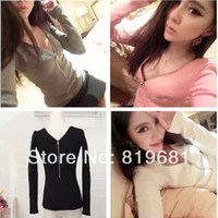 Cheap 2014 new fashion women clothing t shirt korean style punk sexy tops tee clothes T-shirt ,free shipping