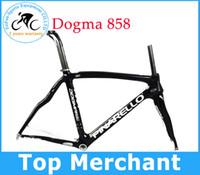 Wholesale 2014 pinarello DOGMA Carbon Torayca HM1K Giallo Nero Asymmetrical Carbon road bike frame black white by EMS