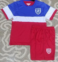 Wholesale USA Soccer Jerseys Football Jersey Kids Youth Children Uniforms Kits Clothing Discount World Cup T Shirts Cheap Thailand Custom Away