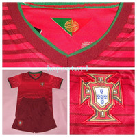 Wholesale Portugal Soccer Jerseys Football Jersey Kids Youth Children Uniforms Kits Clothing Discount World Cup Shirts Cheap Thailand Custom Red