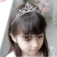 Wholesale 10pcs New Accessories Cute Children Kids Girls Rhinestone Princess Hair Band Crown Headband Tiara Frozen Crown Tiara