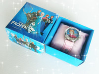 Wholesale In Stock Frozen Children Watch With Box Cheap Kids Cartoon Watches Best Christmas Gifts Birthday Gifts Sets