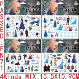 Wholesale x10 cm Frozen Tattoo Sticker Designs Mixed Temporary Tattoo Stickers Summer Best Sell Tattoo