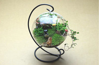 Wholesale Handmade hanging glass vase creative home decoration Succulent Terrarium Pendant Housewarming Green Gift