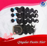 "Cheap Wholesale Body Wave Grade 6a Unprocessed Brazilian Virgin Hair 3 Bundles With 1Pcs Silk Base Closure 4""x4"" Free Shipping"