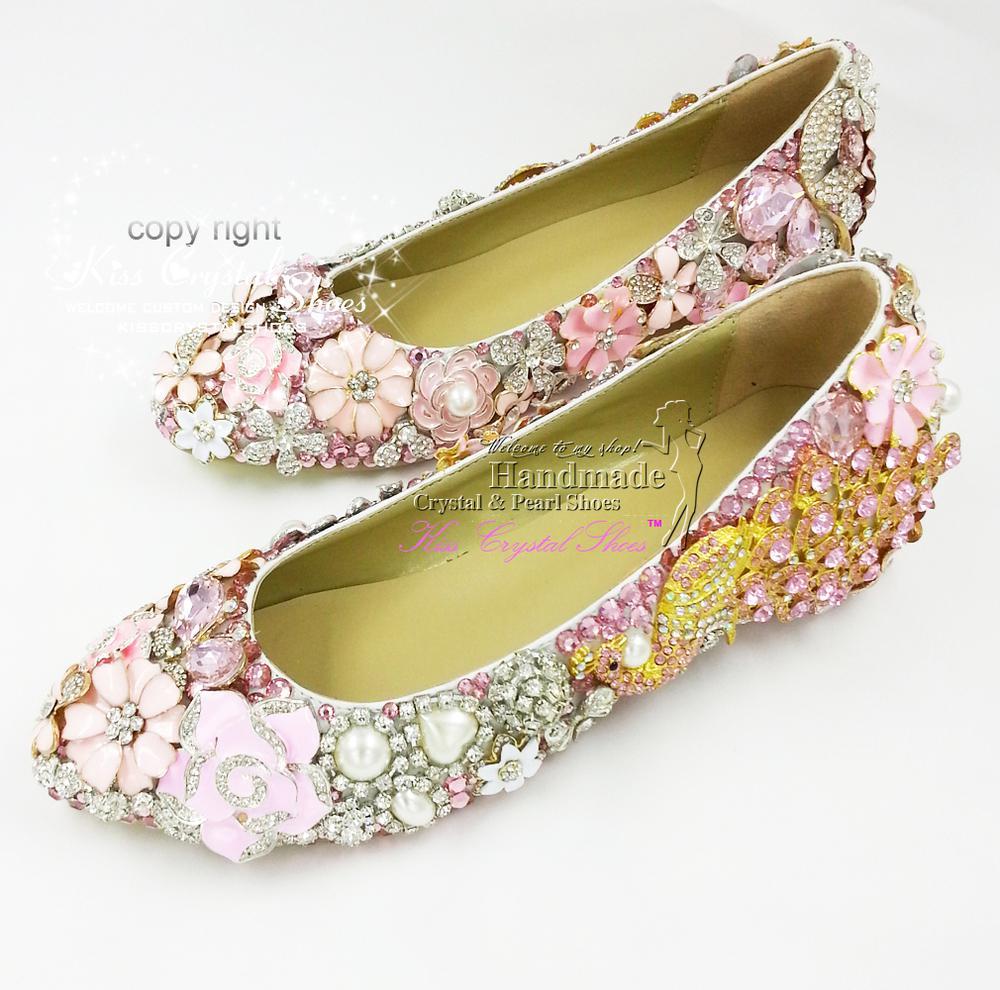 Flat Wedding Shoes New Elegant Customized Handmade ...