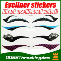 Wholesale pairs black colour eyeliner magic instant Eye Liner Sticker for Party Cosplay cosmetics makeup MU0018