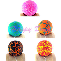 Wholesale Via Fedex EMS Dragon Skin Kendama Cracking Kendama Japanese Traditional Wood Game Kids Toy Made of Beech