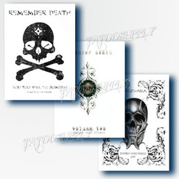 Wholesale Traditional A4 Manuscript Tattoo Remember death Series Tattoo Flash Book Art Magazine Sketch For Tattoo Book Supply DHL Free