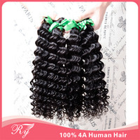 Wholesale RY hair products cheapest hair extensions human hair weave eurasian Remy hair deep wave pc A virgin hair free amp faster shipping