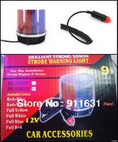 Wholesale Car Warning Light Led Red and Blue Color Decoration Lamp Led Car Flash Lamp Auto Emergency Strobe Lights Car Accessories Lights