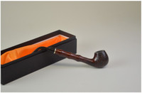 "Cheap Long Briar Style Wood Pipe, about 8.5"" long, packed in nice gift box."