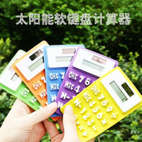 Wholesale Retail Stationery Silicone Solar Calculators silica gel calculator soft deformation calculator portable Students gifts toys
