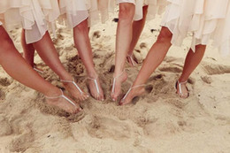 Wholesale 2014 Fashion Shining Crystals Beach Barefoot Sandals Beach Wedding Accessories Body Jewelry