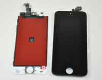 Cheap Black and white Glass Touch Screen Digitizer & LCD Assembly Replacement For iPhone 5 DHL free from cardmate