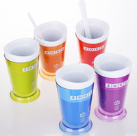 Ice Cream Makers Plastic ECO Friendly HOT Sale ZOKU Slush Shake Maker ,The authentic Home-made ice Cream Tools, ice cream cup, creative cup. 40pcs free shipping