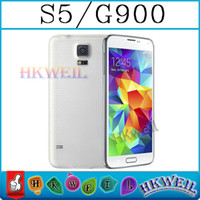 Wholesale Original Size S5 I9600 Cell Phone Fingerprint MTK6572 Dual Core GSM with Inch Screen MP Camera G900 WEIL