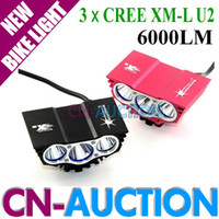 Wholesale FS X3 x CREE XM L U2 LED Lm Head Front Bicycle Lamp Bike Light HeadLight Headlamp Battery Pack Charger CN LBL04