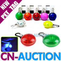 Wholesale High Quality LED Cat Dog Tag Pet Lead Collar Pendant Flashing Safety Night Light Keys CN PT02