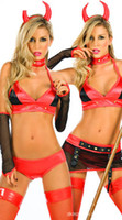 Cheap 1Sets Red Hot&Sexy Costumes Body Suits For Women Clothing Club Wear Stripper Pole Party Play Brand New Exotic Apparel Dropshipping