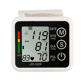 Wholesale Automatic Digital Wrist Blood Pressure monitor and Pulse Monitor Sphygmomanometer Portable Blood Pressure Monitor Health Care