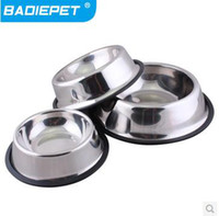 Wholesale Retail Mix Sizes BADIEPET Non slip stainless steel pet bowl Pet Tableware Pet Supplies off for