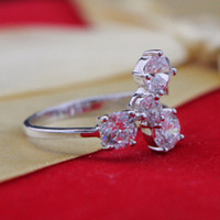 Wholesale Gold plated silver plated zircon ring fashion ring can choose a variety of sizes CDK
