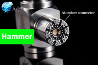 900mAh Stain Steel Hammer Mod Hammer Mod E Cigarette Hammer Body Mechnical Stainless Steel Mod E Pipe with 18350 Battery E Cigs VS Chiyou Nemesis Mod Maraxus Mod Pipe