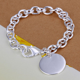Fashion 925 Silver Links Chain Fit Round Pendant Charm Bracelets Jewelry Women's Bracelet New 5pcs