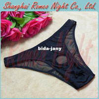 Cheap Wholesale-Man Revealing Open-crotch Elastic G-string, Man Sexy Panties Lingerie, Sex Erotic Costumes