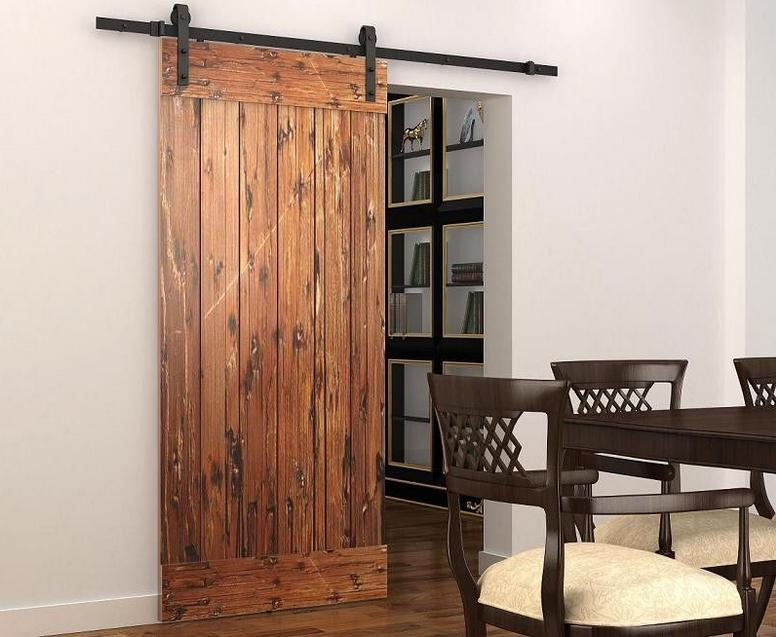 6ft 8ft 10ft Rustic Black Sliding Barn Door Hardware Modern Double Barn  Wood Door Hanging Track Kit