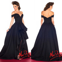 Reference Images asymmetrical dress prom - 2015 New Arrival Evening Dresses Sexy Black Ball Gown Off the shoulder Asymmetrical Taffeta Prom Gowns Formal Gowns Custom made EM02032