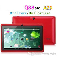 7 inch cameras - Cheap inch Q88 Dual camera A33 Quad Core Tablet PC Android OS Wifi GB M RAM Multi Touch Capacitive Bluetooth A23 Tablet Xmas