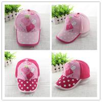 Cheap 2014 new girl baseball hat peppa pig children baseball hat beach hat girl pink hat cartoon cotton cap two colors 06