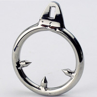 Wholesale Male Chastity Device Cock Cages Additional Ring Stainless Steel Three Stab Anti Erection Anti Shedding NEW ARRIVED