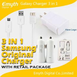 La dernière Conception de la paroi de l'adaptateur de chargeur voiture câble USB chargeur 3 en 1 Samsung Élément d'Origine De la Note 3 S5 S4 Note 2 S3 avec la boîte de détail element cars for sale à partir de voitures d'éléments fournisseurs