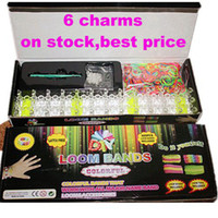 Wholesale DHL hot best selling loom bands kit Rainbow loom Rubber band diy woven bracelet S buckle crochet packing box