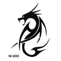 ancient symbol - Ancient symbol Dragon Totem new summer Temporary transfer tattoo Body Sticker paper waterproof non toxic small gift
