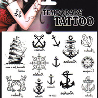Wholesale Pirate ships ancho Many style new summer Temporary transfer tattoo Body Sticker paper waterproof non toxic small gift