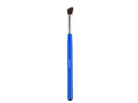 Wholesale 10PCS Blue Flat Angled Nice Eye brushes set eyeshadow Blending Pencil brush Make up tool Cosmetic Kit Silver Aluminum Ferrule H1225XB