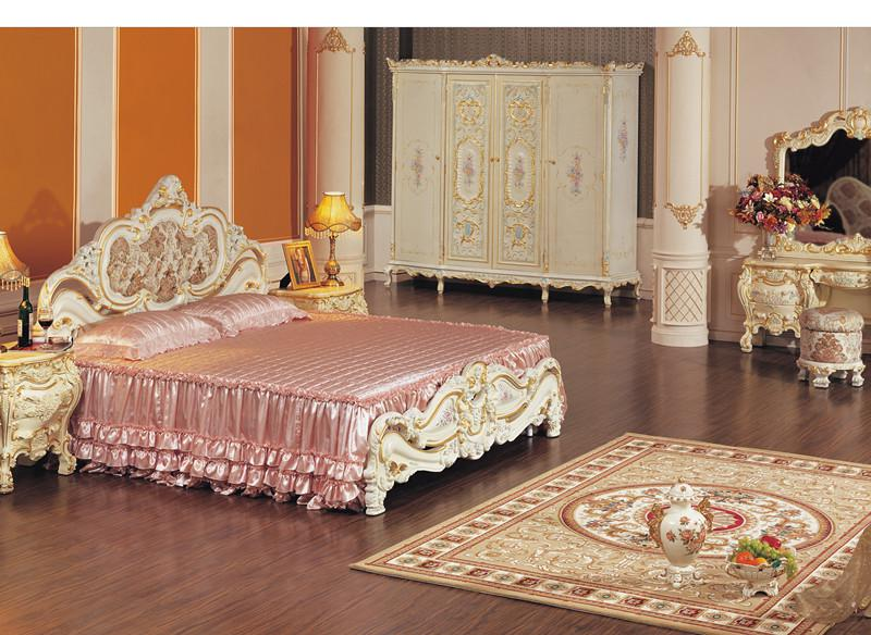 Hot Selling,french Provincial Bedroom Furniture ,cracking Paint King Size  Bed French Furniture Cracking Paint Bed Antique Furniture Online With ...
